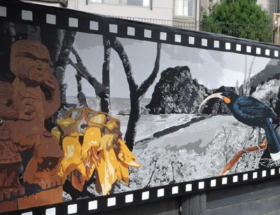 A mural created by artists in Kakano Youth Arts Collective