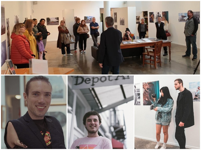 A collage of images representing Depot Artspace