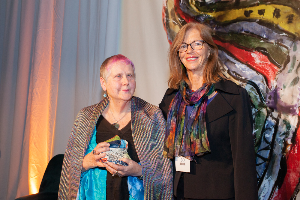 Robyn Hunt, presented the Arts Access Accolade 2019 by Karen Webster, Chair, Arts Access Aotearoa