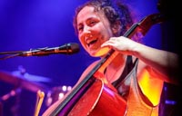 Bonnie Schwarz playing the cello