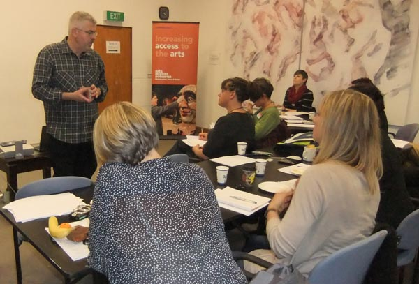 Michael Crowley ran a workshop in Wellington on teaching creative writing in prisons