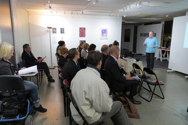 Annual general meeting at Alpha Art Gallery and Studio