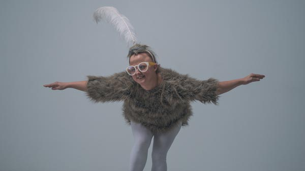 Sarah Houbolt performs in Kookoo the Birdgirl