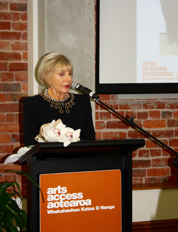 Dame Rosie Horton at the Arts Access 20th Anniversary lunch