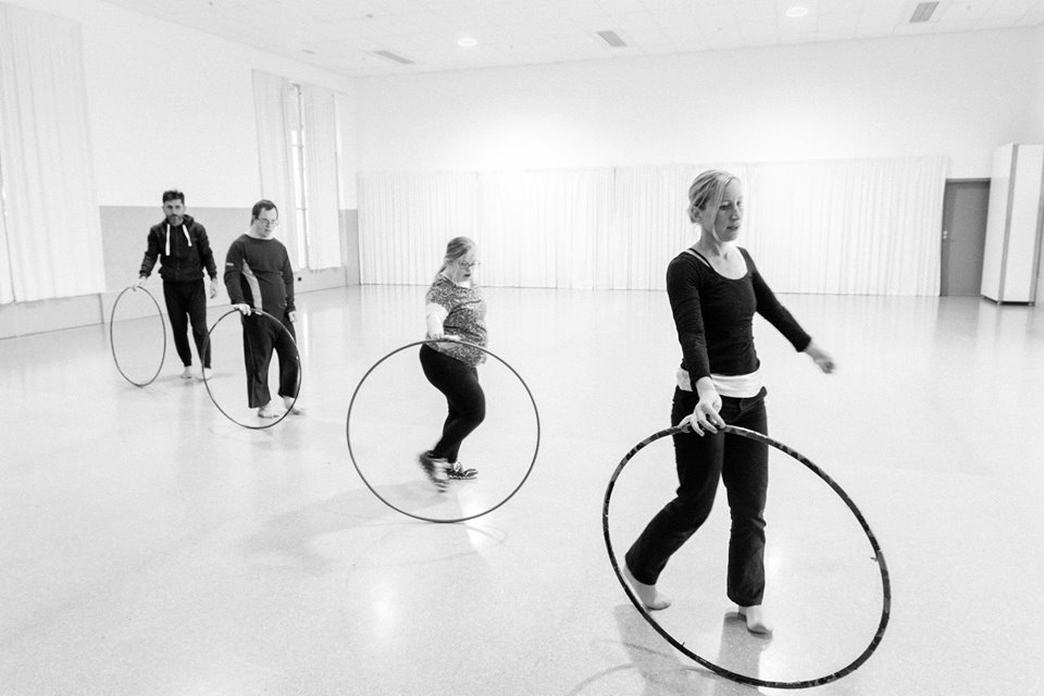 Sumara Fraser and the WIDance rehearsing for the 5th anniversary performances