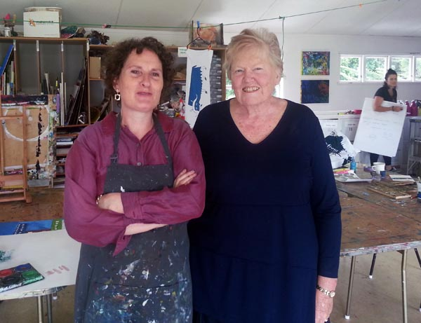 Director Diana McPherson with Margaret, Studio Co-ordinator at Mapura Studios