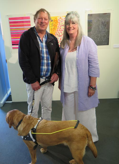 Artist Peter Ruddenklau and co-curator Gail Batchelor
