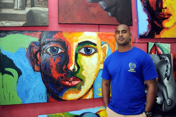 Myuran Sukumaran, Kerokoban Prison's prisoner, artist in residence and art tutor
