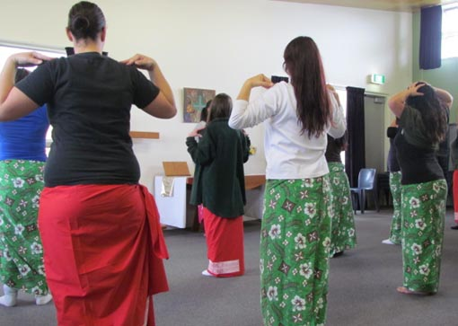 A workshop run by Pacific Dance New Zealand at Auckland Region Women's Corrections Facility in 2012