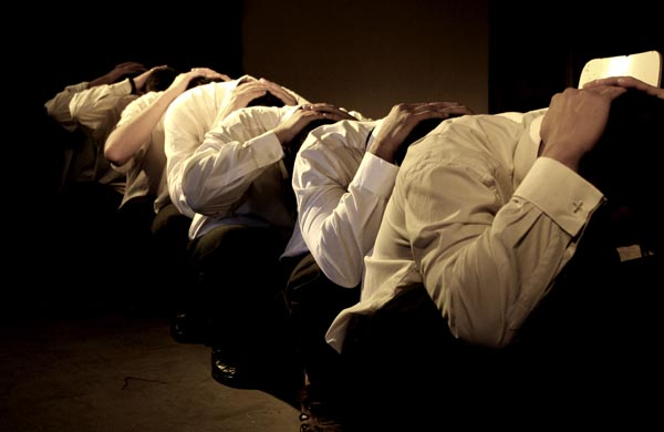 Performance by men in a Santiago prison