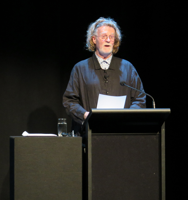 Curt Tofteland addressing Wellington's Creativity: The Possibilities of Hope - A public lecture held at Te Papa, Soundings Theatre on 27 May 2015.