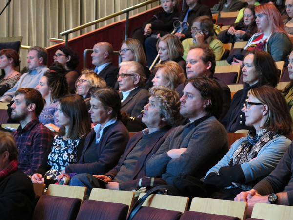 Audience at Wellington's Creativity: The Possibilities of Hope - A public lecture held at Te Papa, Soundings Theatre.