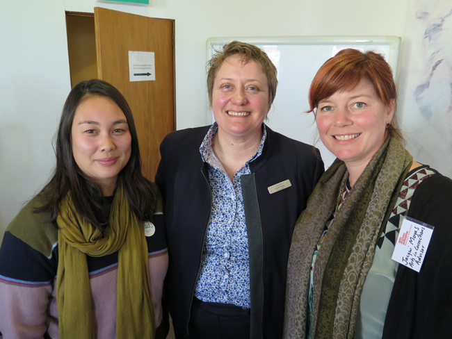 Jane Yonge (theatre practitioner), Kathryn Leafe (CEO @CareNZ), Jacqui Moyes (Arts in Corrections advisor for Arts Access Aotearoa)