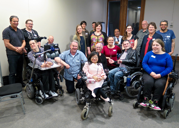 Members of Arts Access Advocates at the two-day symposium in Wellington