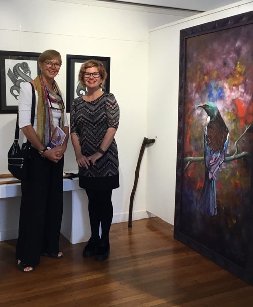 Dr Karen Webster, Arts Access Aotearoa trustee and Beth Hill, Northland Region Corrections Facility