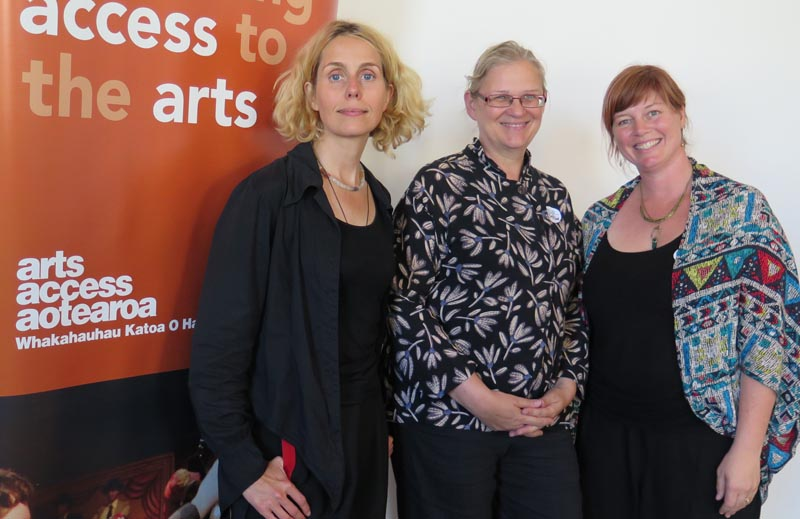 Uta Plate, Bettina Senff, Goethe-Institut New Zealand, Jacqui Moyes, Arts Access Aotearoa