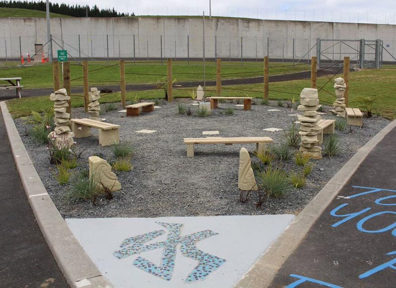 the sundial garden in Puna Tatari, Spring Hill Corrections Facility
