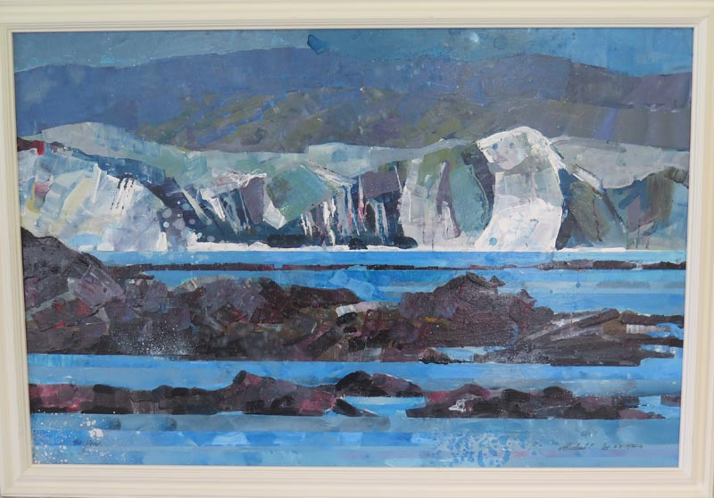 Wellington Harbour Heads by Michael Cox, acrylic on canvas