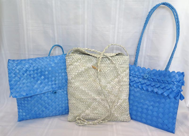 Kete made by prisoners from recycled materials