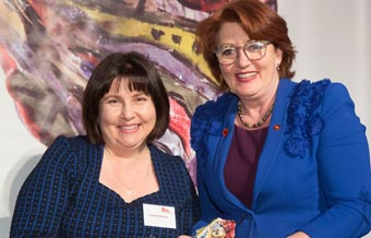 Dionne Christian and Hon Maggie Barry