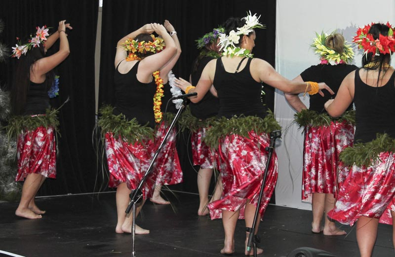 A cultural dance performance at the Arohata Christmas Concert
