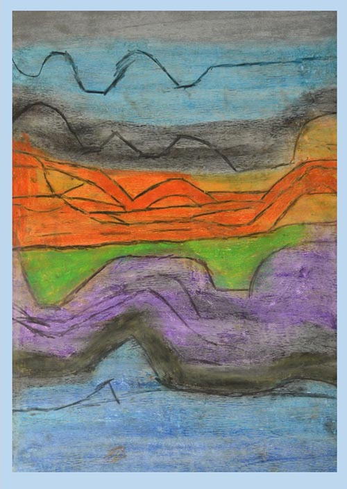"""Sea Mountains Sky Land by Lee Harland, CS Arts, Invercargill"