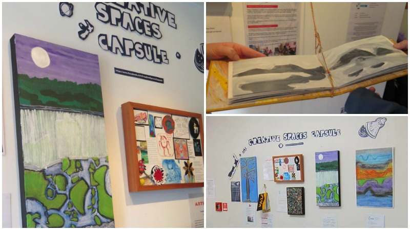 A collage of images of the Creative Spaces Capsule Project