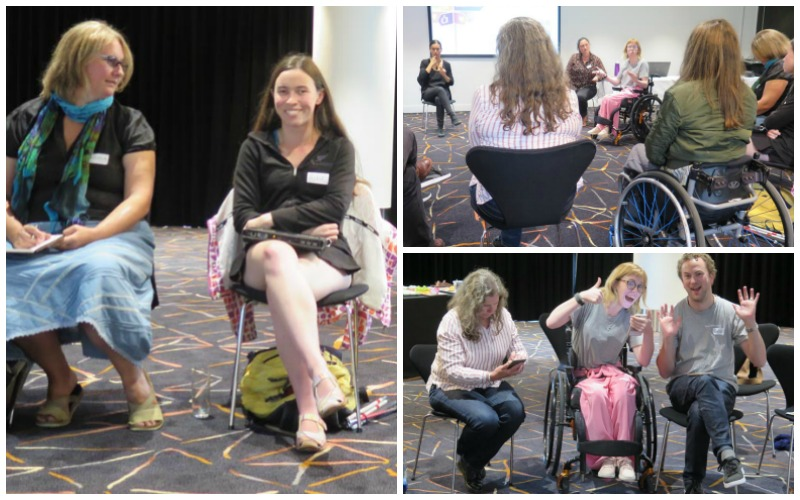 Collage of images of Accessible Arts Auckland meeting