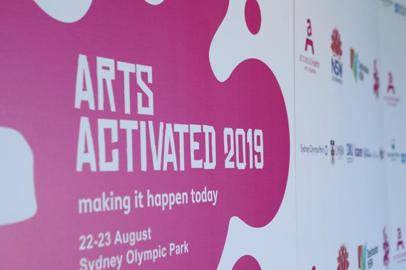 Arts Activated Conference 2019 logo