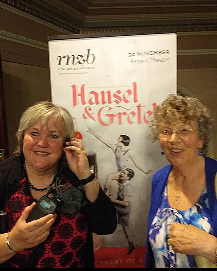 Julie Woods and Margaret Jackson at Hansel & Gretel