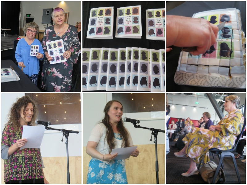 "Collage of images from the launch of Crip the Lit's ""Here we are, read us"""