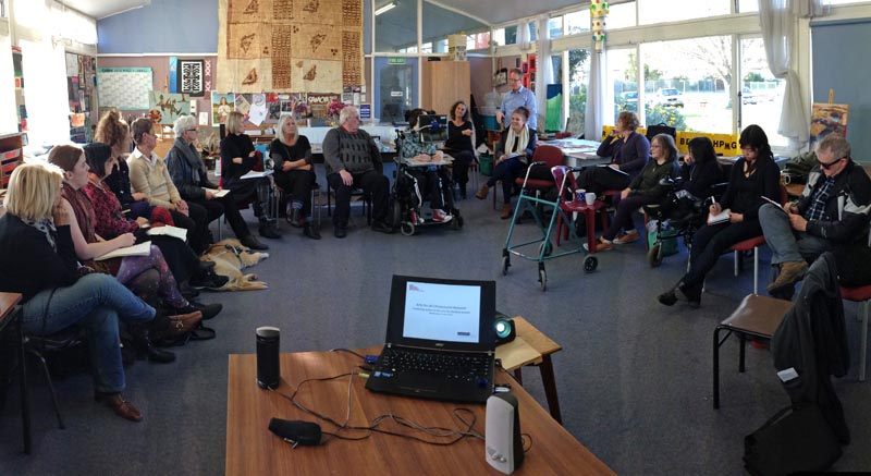 An Arts For All Christchurch Network meeting in June 2016