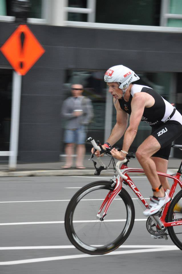 Nick Ruane competing in the para triathlon, 2011 Paralympics