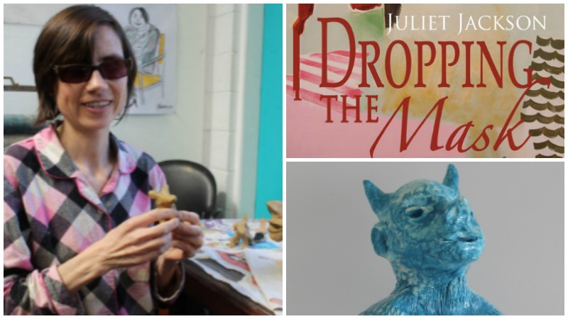 Collage of images of Juliet Jackson and her artwork