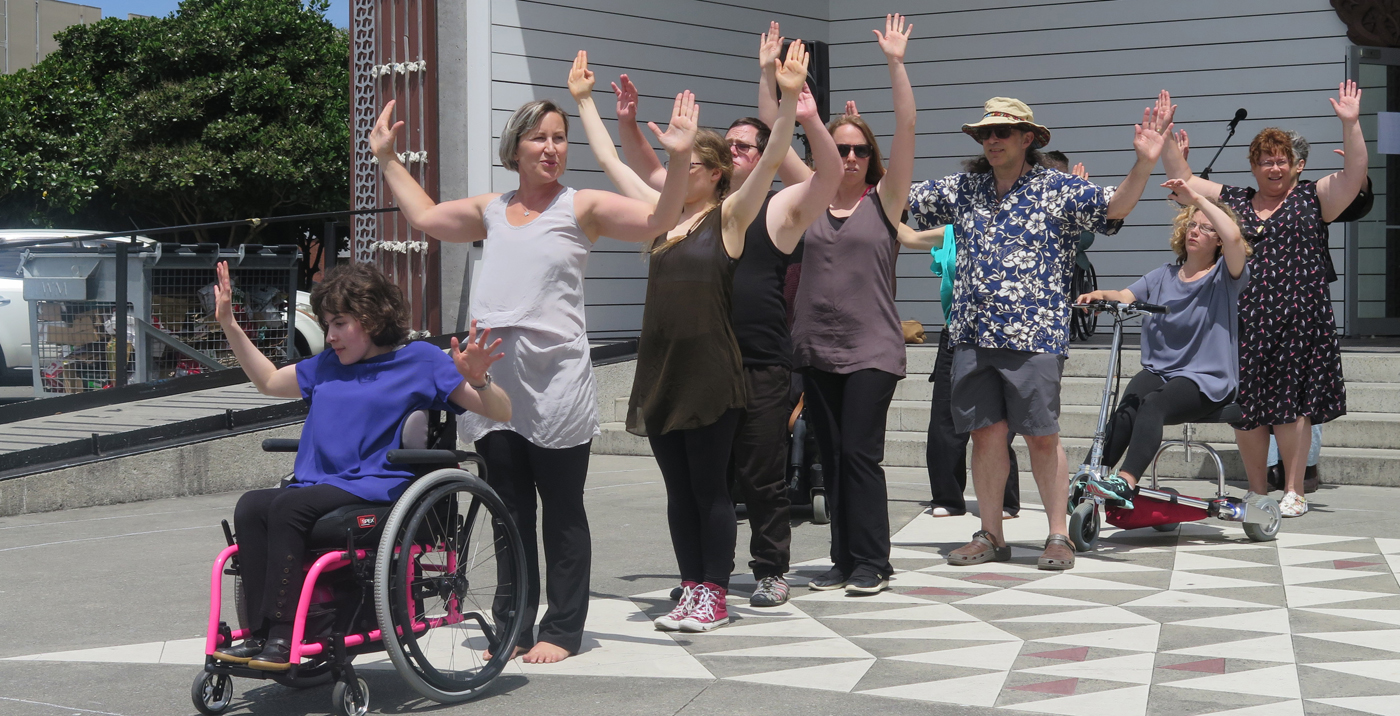WIDance and participants at Disability Pride Week