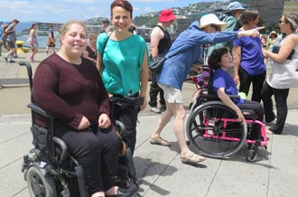Erin Gough and Paula Tesoriero at Disability Pride Day on 3 December