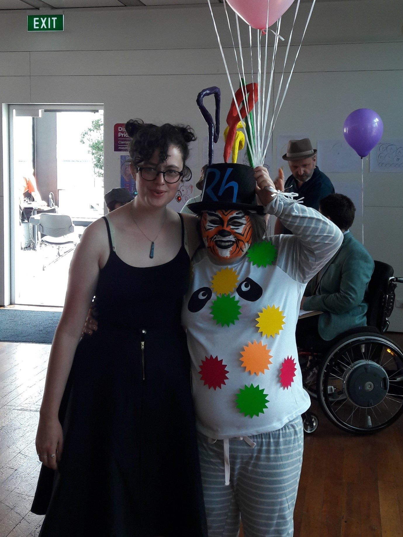 Maggie Rose Paine as the Tele Tiger in last year's Disability Pride Week