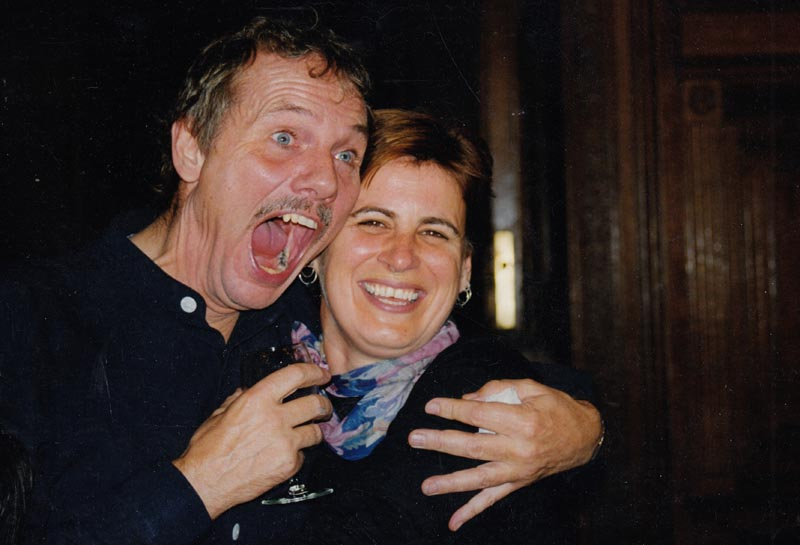 Lyn Cotton with Wolfgang Stange in 1997