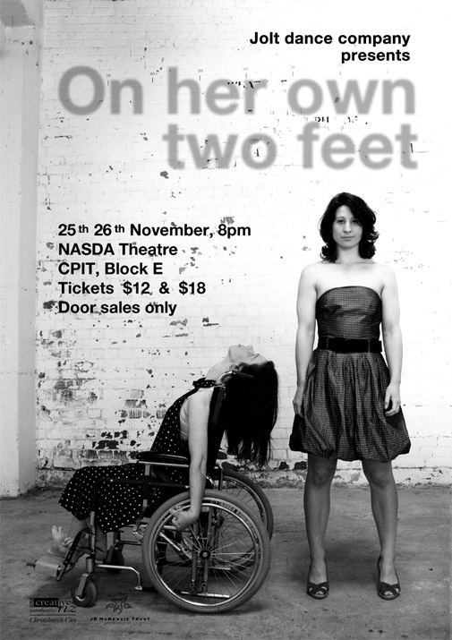 flier for on her own two feet