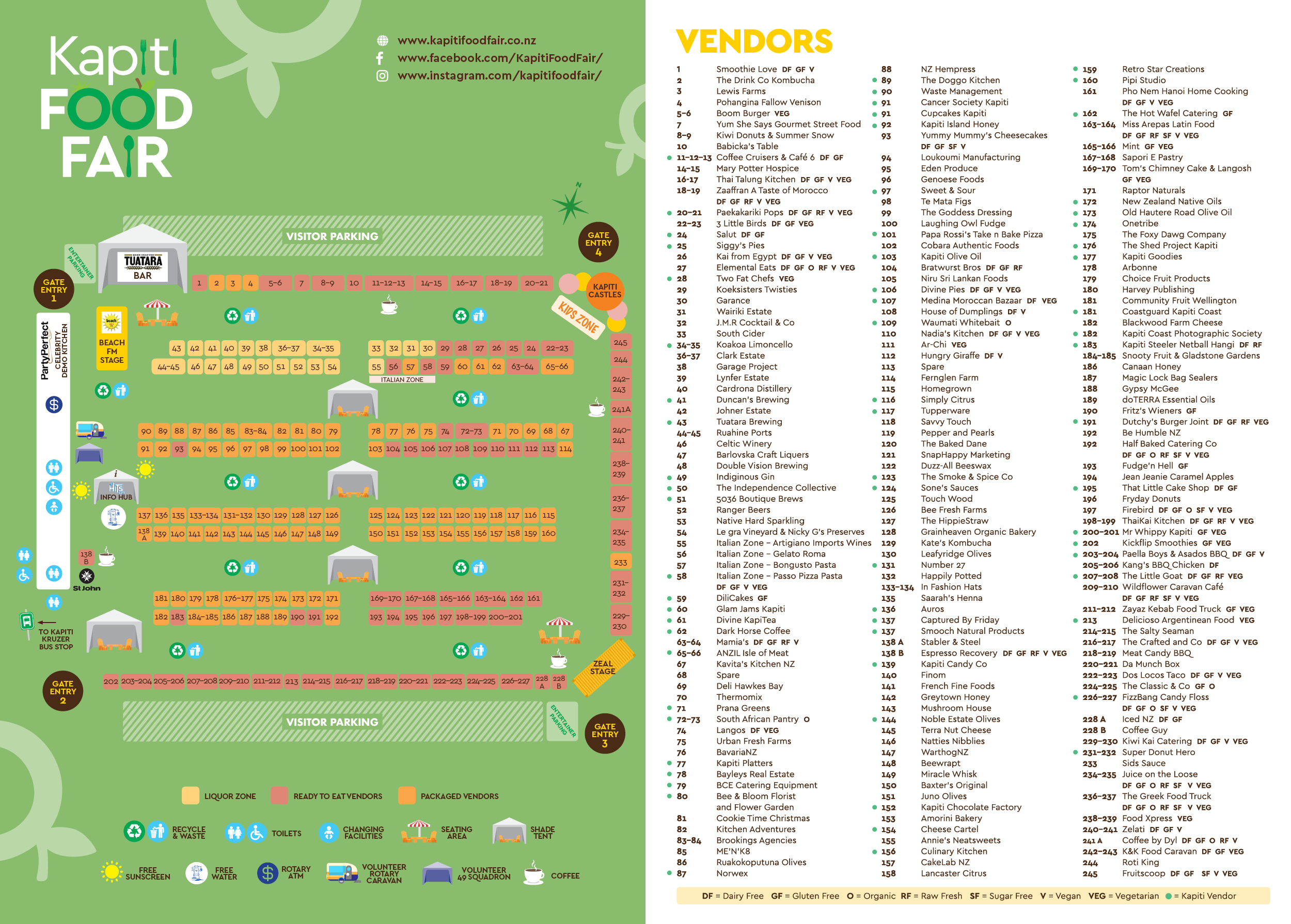 Kapiti Food Fair 2019 Visitor Site Map