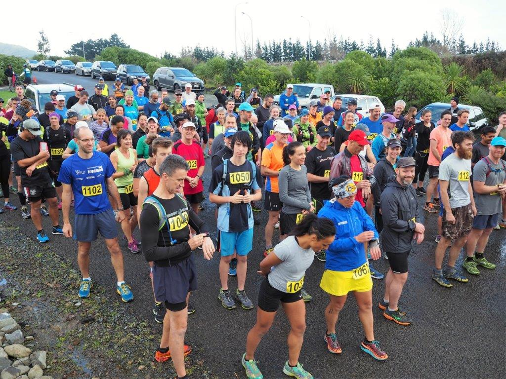 The runners line up at the start (Photo by Doug Stevens)