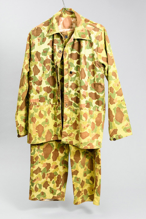 Camouflage tunic and trousers