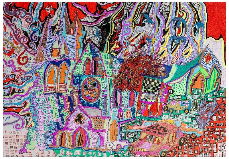 Carmen Brown, The Cathedral and The Wizard's Car, 2017