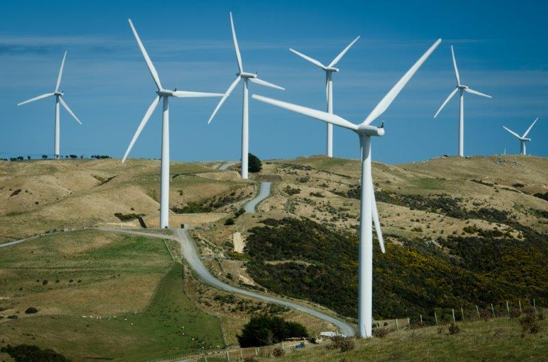 Wind turbines at Makara