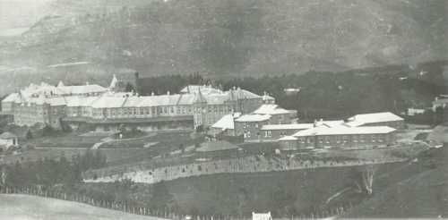 Porirua Hospital showing F ward in the foreground (ca 1920's)