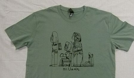 100% cotton T-shirts designed by Michael
