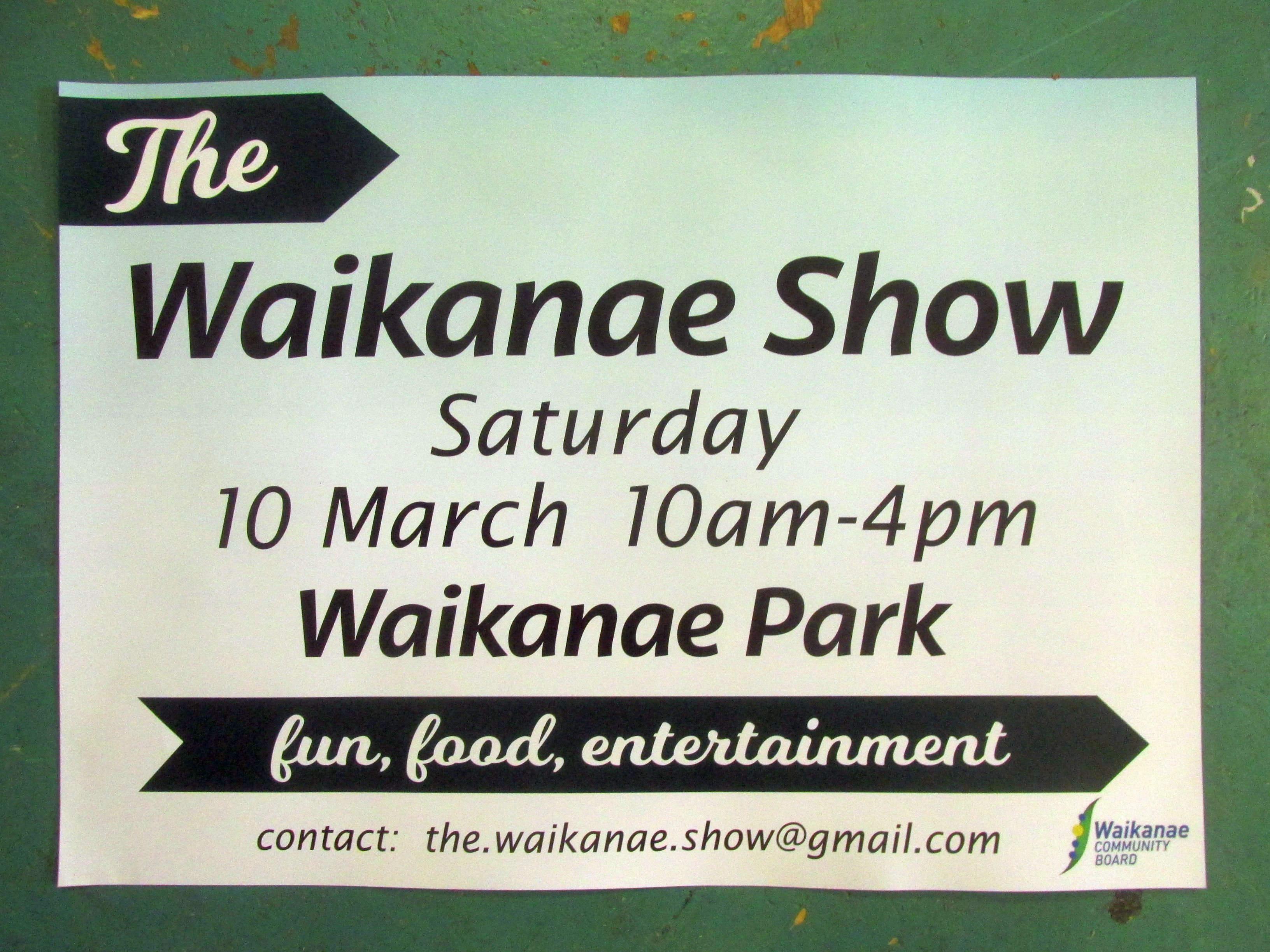 Waikanae Show Poster with details