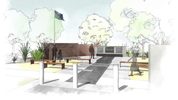 artists impression of Tawa Memorial