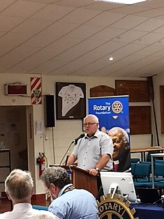 PDG Pat Waite update to Tawa Rotary 21 Mar 17