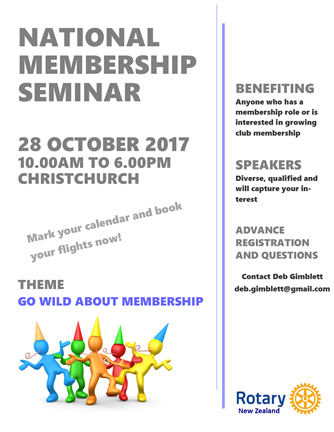 National Membership Seminar, Oct 2017
